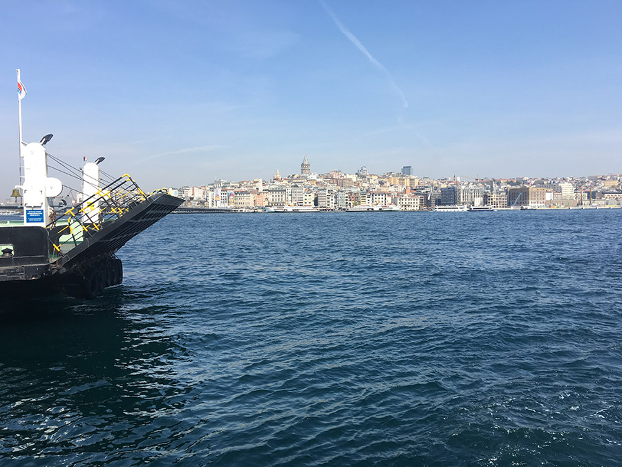 sailing over the Bosphorus